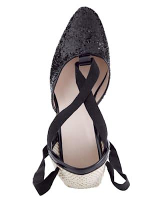 Sandales compensées style espadrilles tendance