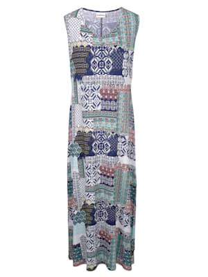 Robe à imprimé patchwork tendance