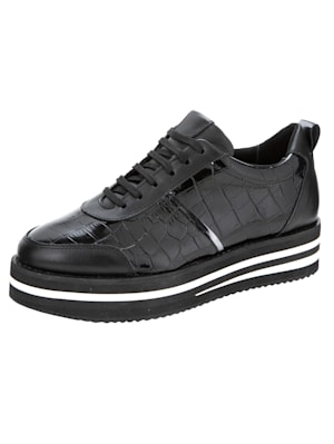 Sneakers à plateau à ravissant jeu de matières