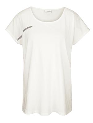 Shirt vorne mit glitzerndem Dekoband
