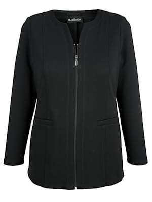 Jersey blazer van structuurmateriaal