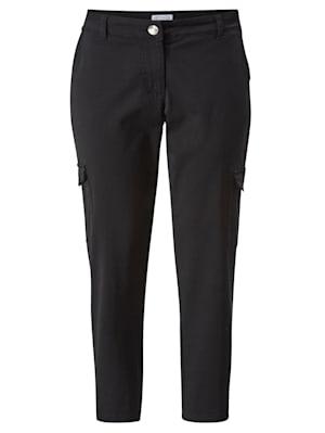 Pantalon cargo à poches plaquées