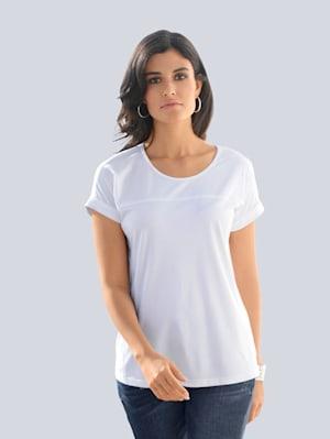 Shirt mit Teilungsnähten im Vorderteil