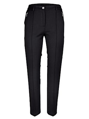 Pantalon à effet ventre plat et empiècement modelant