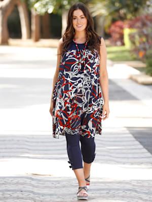 Kleid mit grafischem Druckmuster