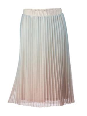 Jupe plissée au joli dégradé de couleurs pastel