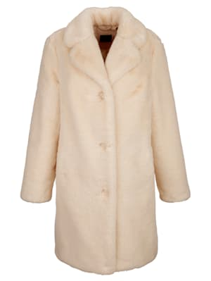 Coat made from soft faux fur