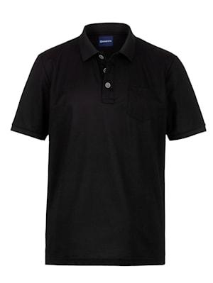 Poloshirt met fijne zijde