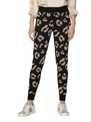 Pantalon en maille à motif graphique