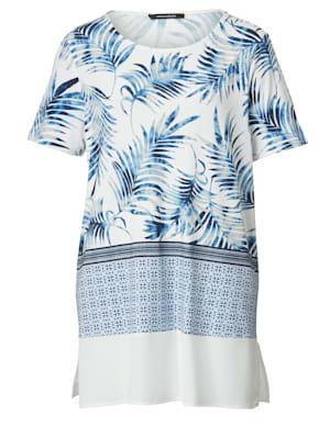 Shirt mit Blätterdessin