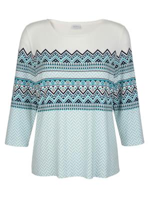 Shirt met Noors patroon