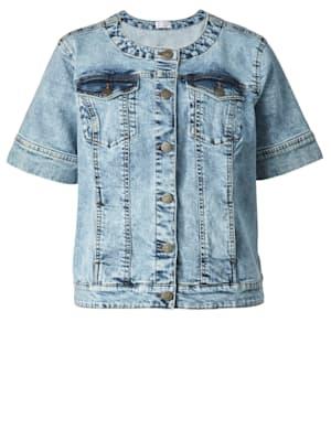 Jeansjacke mit modischem Halbarm