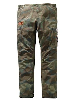 Pantalon cargo en pur coton