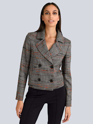 Blazer in modischem Dessin
