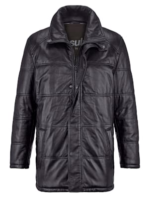 Veste en cuir avec finition Thinsulate