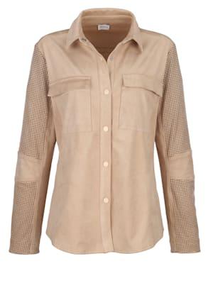 Hemdjacke aus hochwertigem Velours- Lederimitat