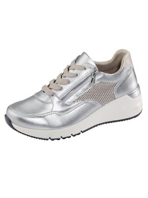 Sneakers à empiècements en mesh