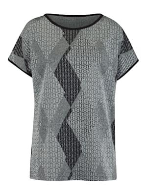 Shirt aus grafischem Jacquard-Strick