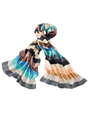 Schal mehrfarbig gemustert