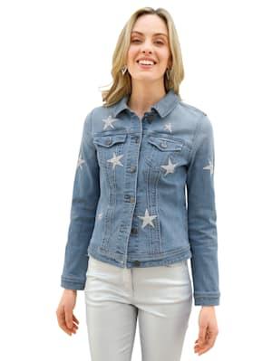 Veste en jean à étoiles brillantes devant