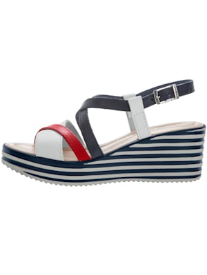 Sandales compensées de style marin