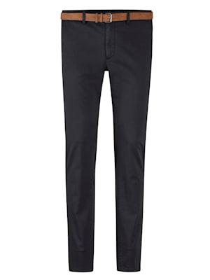 Pantalon chino Livré avec ceinture assortie