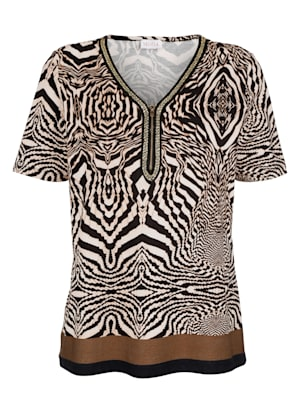 T-shirt avec bordure fantaisie