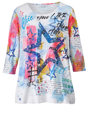 Shirt met kraaltjes en steentjes
