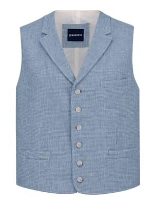 Mouwloos vest met linnen