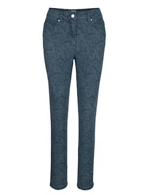 Jeans mit Pasileydruck Dessin