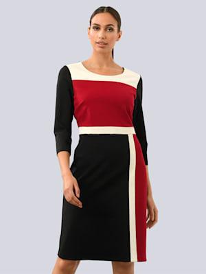 Kleid im Colour-Blocking