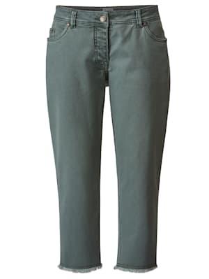 7/8-jeans met franjes aan de zoom
