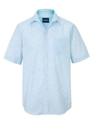Overhemd met dessin rondom
