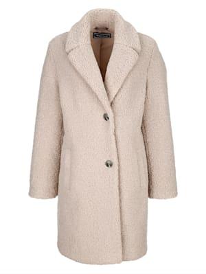 Mantel aus weichem Teddymaterial
