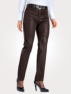 5-Pocket-Hose in Leder-Optik