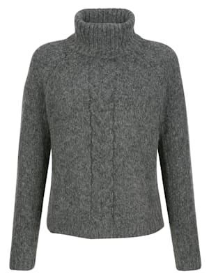 Pullover mit Zopfmuster