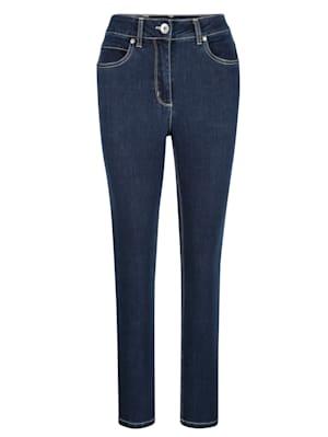 Jeans van comfortabel dwarsstretchmateriaal