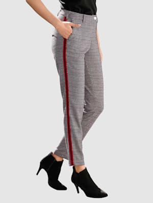 Kalhoty Laura Slim s glenček káro vzorem