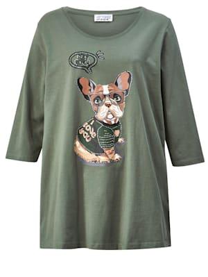 T-shirt avec adorable motif de chien