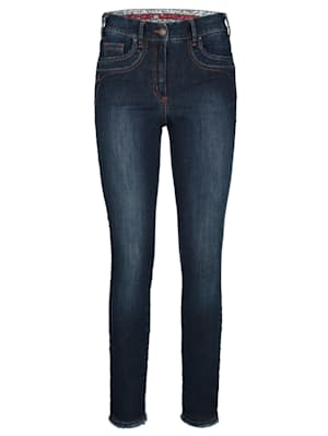 Jeans with fringe trim