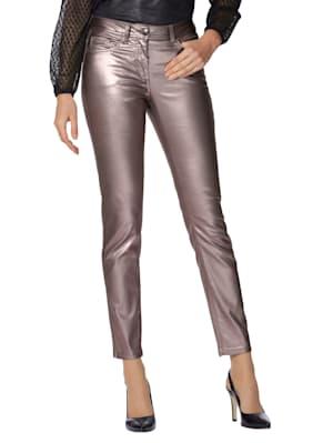 Pantalon avec enduction argentée