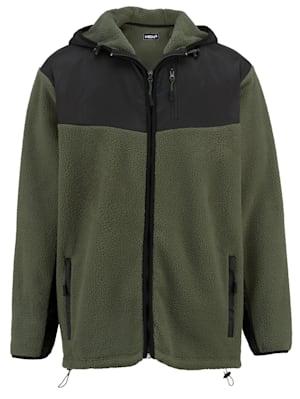 Fleece vest met capuchon
