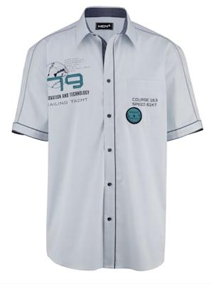 Chemise à manches courtes en pur coton