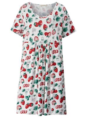 Robe en jersey imprimé fraises