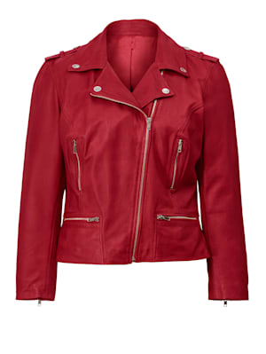 Lederjacke in Bikerform