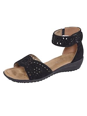 Sandale mit dezenten Ziersteinchen