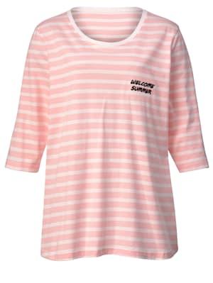 Shirt mit Stickerei auf der linken Seite