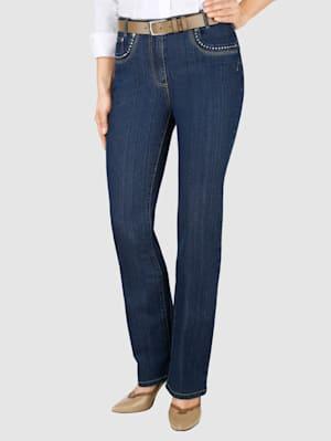Jeans med strass på lommene