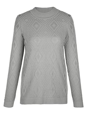 Pull-over avec motif maille
