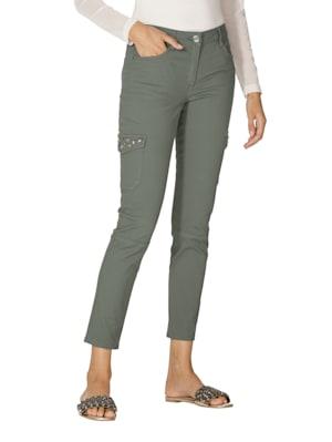 Pantalon cargo à motif en strass